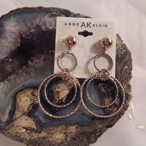 Anne Klein AK Multi-tone Pierced Hoop Earrings